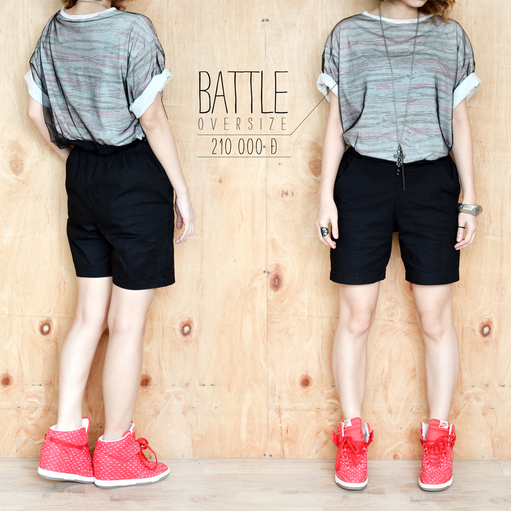 Battle true oversized tee 2 copy