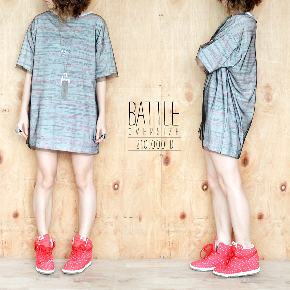Battle true oversized tee