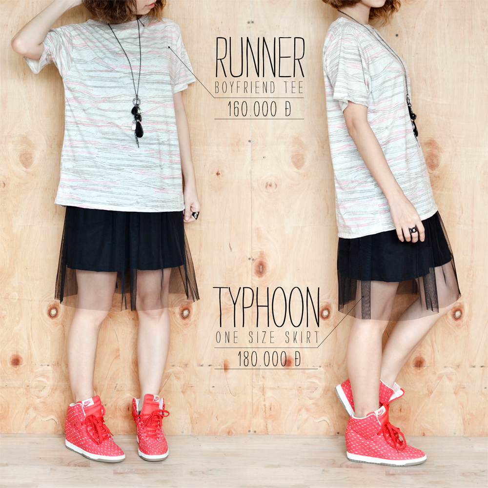Runner tee + Typhoon skirt