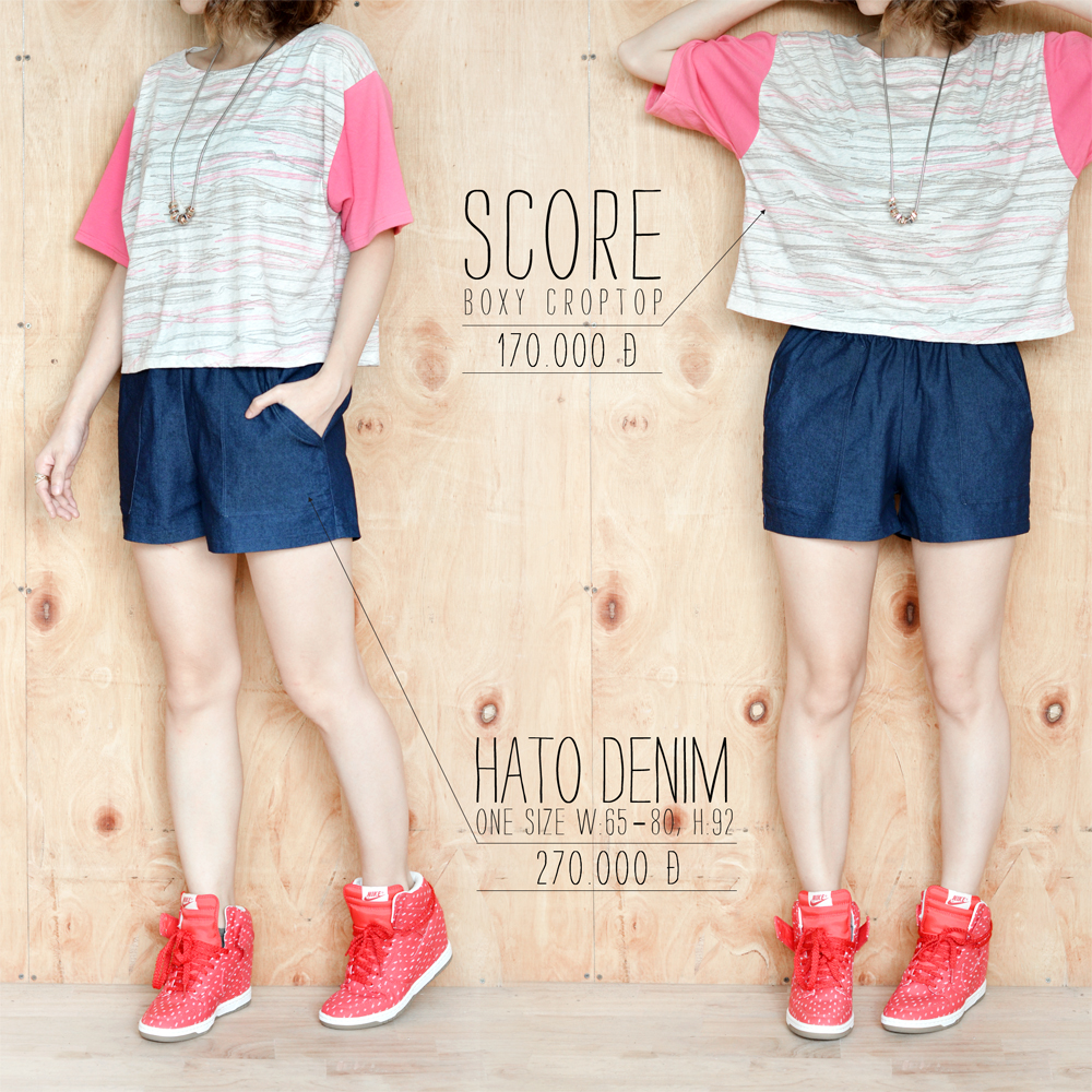 Score crop + Hato Denim