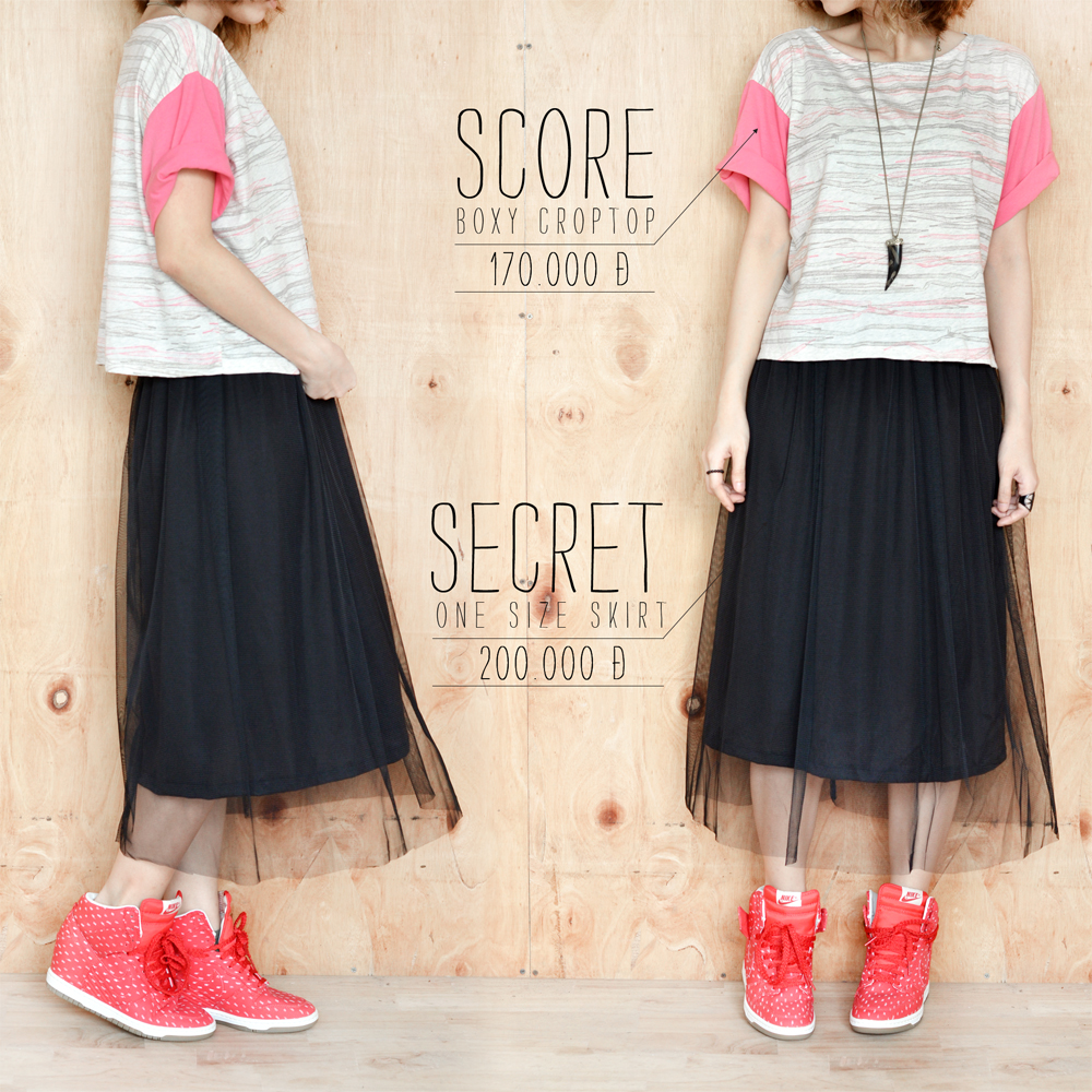Score crop + Secret skirt