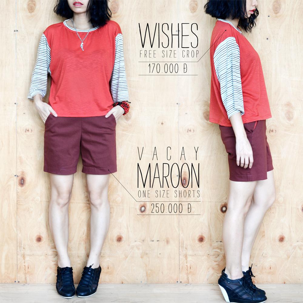 Wishes + Vacay Maroon